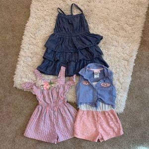Rompers & ruffles denim dress